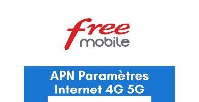 APN Free Mobile France