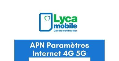 APN Lycamobile France