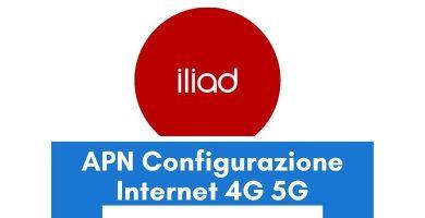 Configurazione APN Iliad Italia