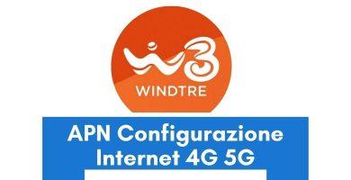 Configurazione APN WindTre Italia