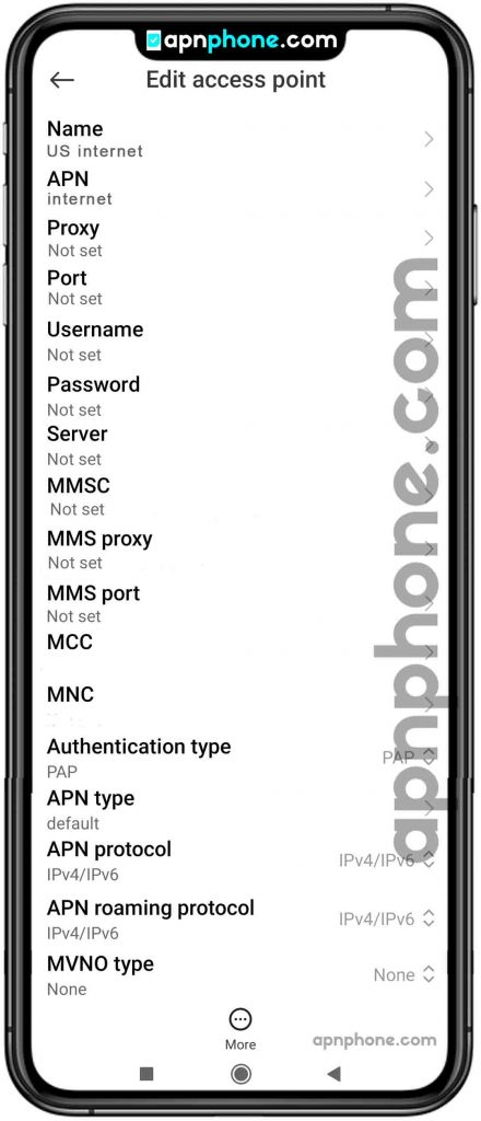 us cellular apn settings for android